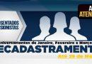 APOSENTADOS E PENSIONISTAS DOS MESES DE JANEIRO, FEVEREIRO E MARÇO